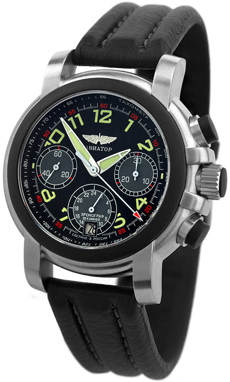 Poljot-Aviator-Chronograph-Mechanisch-Kauczuk-31681-3035268